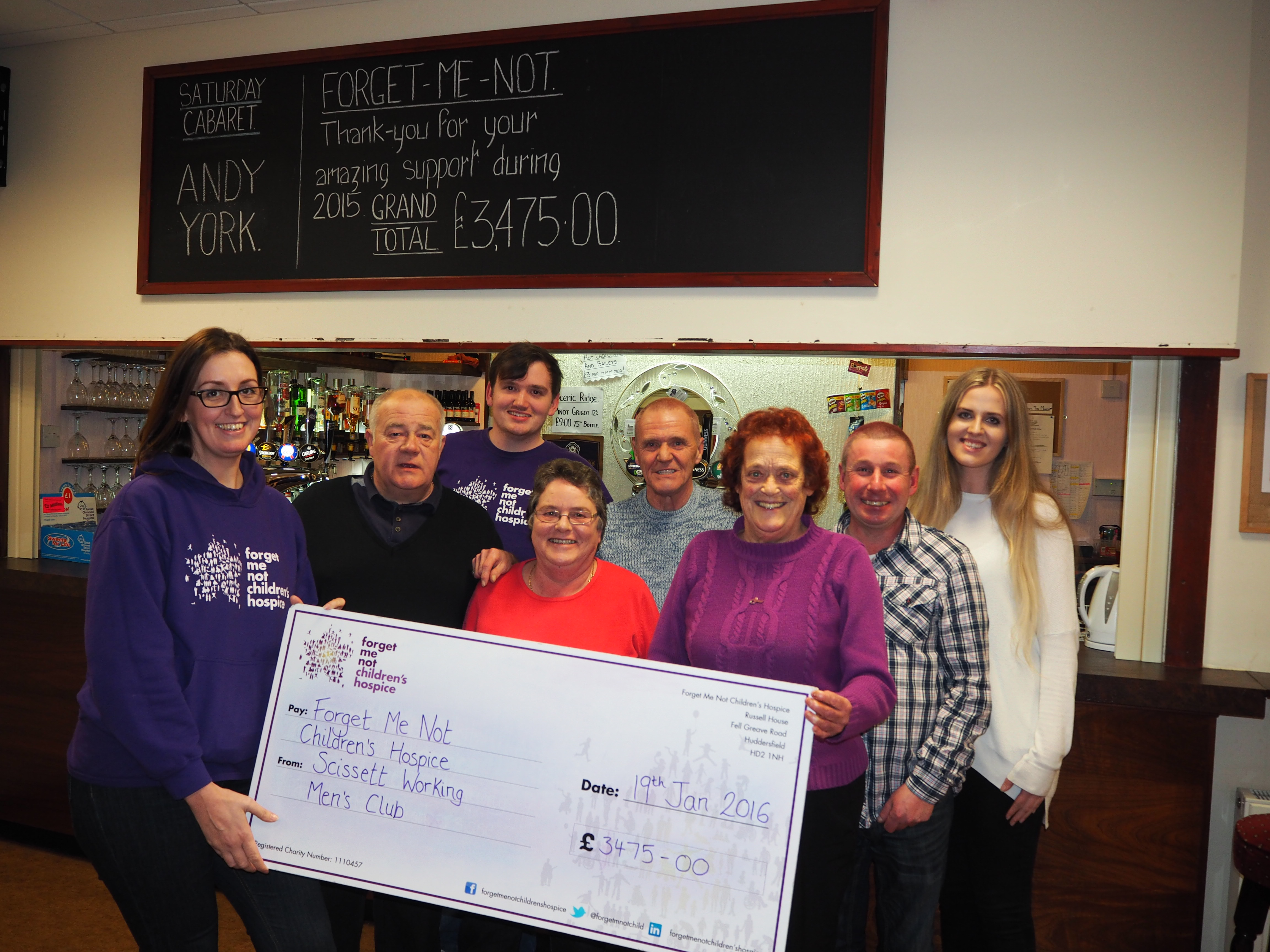 Cheque presentation to Forget Me Not Children's Hospice